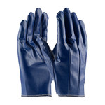 PIP Excalibur 60-3106 Blue Large Cotton Work Gloves - Straight Thumb - Nitrile Full Coverage Coating - 8.6 in Length - 60-3106/L