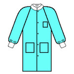Kimberly-Clark Basic Plus Trim Blue Large SMS Work Coat - 3 Pockets - 036000-10032