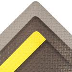 Notrax Cushion Trax Ultra 975 Black PVC Diamond-Plate Anti-Fatigue & Ergonomic Floor Mat - 2 ft Width - 3 ft Length - 975 2 X 3 BLK