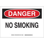 Brady Prinzing B-401 High Impact Polystyrene Rectangle White No Smoking Sign - 14 in Width x 10 in Height - 46930