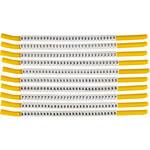 Brady Clip Sleeve SCNC-18 Black on White Nylon Clip-On Sleeve - 32893