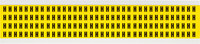 Brady 34 Series 3400-H Black on Yellow Vinyl Cloth Letter Label - Indoor - 1/4 in Width - 3/8 in Height - 1/4 in Character Height - B-498