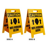 Brady B-836 Polypropylene Rectangle Yellow Floor Stand Sign - 12 in Width x 20 in Height - 92285