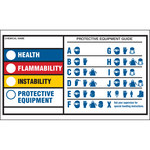 Brady 60332 Black / Blue / Red / Yellow on White Rectangle Polyester Right-To-Know Label - 3 1/2 in Width - 2 in Height