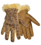 Red Steer Zoohands Brown 7 to 12 (Youth) Synthetic Leather Driver's Gloves - 291G