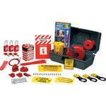 Brady Gray Polyethylene Lockout/Tagout Kit - 2.6 in Depth - 1.87 in Width -.8 in Height - 754473-63168