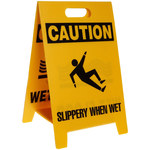 Brady B-836 Polypropylene Rectangle Yellow Floor Stand Sign - 12 in Width x 20 in Height - 92280