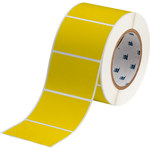Brady THT-19-8591-1-YL Yellow Polyester Die-Cut Thermal Transfer Printer Label Roll - 3 in Width - 2 in Height - B-8591