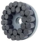 Weiler Ceramic Bristle Disc - Fine Grade - Arbor Attachment - 1 1/4 in Center Hole - 8 in Outside Diameter - 0.043 in Bristle Diameter - 86142
