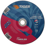 Weiler TIGER Concave (Type 28) Aluminum Oxide Grinding Wheel - 24 Grit - 9 in Diameter - 7/8 in Center Hole - 1/4 in Thick - 57137