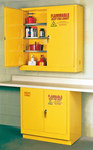 Eagle 24 gal Yellow Steel Hazardous Material Storage Cabinet - 43 in Width - 44 in Height - Wall Mount - 048441-33392
