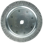 Weiler Steel Wheel Brush 0.02 in Bristle Diameter - Arbor Attachment - 15 in Outside Diameter - 1 1/4 in Center Hole Size - 09089