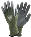 West Chester IRONCAT 6100 Green/Gray Large Silicone Welding Gloves - 6100/L