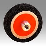 3M Scotch-Brite CS-UC Silicon Carbide Wheel Brush Very Coarse Grade - Arbor Attachment - 6 in Outside Diameter - 7/8 in Center Hole Size - 04237
