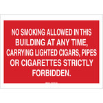 Brady B-302 Polyester Rectangle Red No Smoking Sign - 14 in Width x 10 in Height - Laminated - 88432