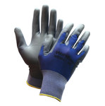 Sperian Workeasy WE100 Gray/White Large Polyester Work Gloves - ANSI 1 Cut Resistance - Nitrile Palm Coating - WE100-L