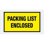 Shipping Supply Tape Logic Yellow Packing List Enclosed Envelopes - 5 1/2 in x 10 in - 2 mil Thick - SHP-13077