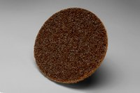 3M Scotch-Brite SE-DS Non-Woven Aluminum Oxide Brown Quick Change Disc - Coarse - 3 in Diameter - 18086