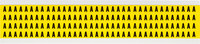 Brady 34 Series 3400-A Black on Yellow Vinyl Cloth Letter Label - Indoor - 1/4 in Width - 3/8 in Height - 1/4 in Character Height - B-498