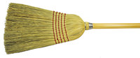 Weiler 703 Upright Broom - Corn / Fiber Bristle - 57 in Overall Length - 70308