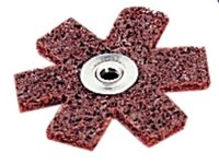 Standard Abrasives A/O Aluminum Oxide AO Brown Surface Conditioning Star - 3 in Diameter - Medium - 724603