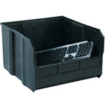Black Conductive Bin - 18 in x 16 1/2 in x 11 in - SHP-3036