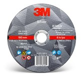 3M Silver Ceramic Cutoff Wheel - 6 in Diameter - 87469
