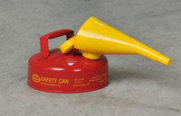 Eagle Red Galvanized Steel 2 qt Safety Can - 9 in Height - 5 5/16 in Overall Diameter - 048441-00841