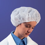 Kimberly-Clark Blue Large Bouffant Cap - 24 in Stretched Diameter - 036000-69088