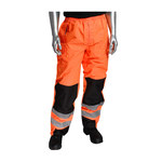 PIP 318-1771 Hi-Vis Orange Large Polyurethane on Polyester High-Visibility Pants - 5 Pockets - 45.7 in Outseam Length - 616314-16044