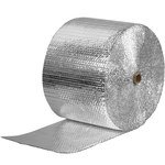 Shipping Supply Silver Cool Shield Bubble Rolls - 125 ft x 12 in x 0.1875 in - SHP-2288