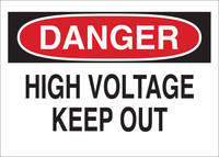 Brady B-558 Recycled Film Rectangle White Electrical Safety Sign - 14 in Width x 10 in Height - 118184