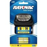 Rayovac Value Bright Headlamp - 14 Lumens 5 LEDs Red, White - (3) AAA - BRS5LEDHLT-BB