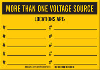 Brady B-946 Vinyl Rectangle Yellow Lockout Sign - 10 in Width x 7 in Height - Self-Adhesive - 60179