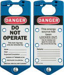 Brady Blue Anodized Aluminum Lockout/Tagout Hasp 65962 - 3 in Width - 7 1/4 in Height - 6 Padlock Capacity - 754476-65962