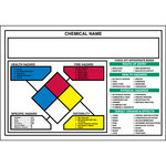 Brady 53079 Black / Blue / Red / Yellow on White Rectangle Vinyl Right-To-Know Label - 5 in Width - 3 1/2 in Height - B-946