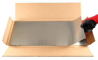 Precision Brand 321 Annealed Stainless Steel Tool Wrap - 12 in Width x 24 ft Length x 0.002 in Thick - 20315