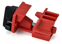 Brady Red Nylon Circuit Breaker Lockout Device 66321 - Clamp-On - 1.25 in Width - 2.45 in Height - 754476-66321