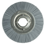 Weiler Silicon Carbide Wheel Brush 0.04 in Bristle Diameter 80 Grit - Arbor Attachment - 10 in Outside Diameter - 2 in Center Hole Size - 83516