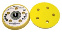 3M Hookit 77856 Soft Beige Disc Pad - 5 in DIA - 11/16 in Thick - 5/16 - 24 External Thread Attachment