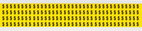 Brady 34 Series 3400-5 Black on Yellow Vinyl Cloth Number Label - Indoor - 1/4 in Width - 3/8 in Height - 1/4 in Character Height - B-498