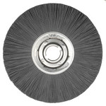 Weiler Silicon Carbide Wheel Brush 0.035 in Bristle Diameter 180 Grit - Arbor Attachment - 14 in Outside Diameter - 2 in Center Hole Size - 83722