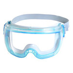 Kimberly-Clark Revolution V80 Polycarbonate Safety Goggles Yellow Lens - Blue Frame - Non-Vented - 761445-10502
