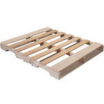 Shipping Supply Natural Wood Recycled Heat Treated Pallet - 48 in x 40 in - SHP-13039