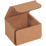 Shipping Supply Kraft Corrugated Mailers - 3 in x 3 in x 2 in - SHP-12455