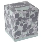 Kleenex White Facial Tissue - Box - 8.4 in Overall Length - 8.4 in Width - 21272