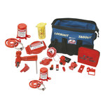 Brady Black/Blue Polyester Lockout/Tagout Kit - 8.5 in Depth - 15.6 in Width - 10 in Height - 754476-99689