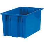 Blue Stack & Nest Containers - 16 in x 10 in x 8.875 in - SHP-3037
