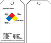 Brady 76225 Black / Blue / Red / Yellow on White Polyester Chemical Hazard Tag - 3 in Width - 5 3/4 in Height - B-851, B-674