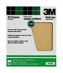 3M Aluminum Oxide Brown Sand Paper Sheet - 9 in Width x 11 in Length - 100 Grit - Coarse - 99404